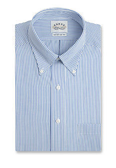 Eagle Shirtmakers Blue Bengal Stripe Dress Shirt