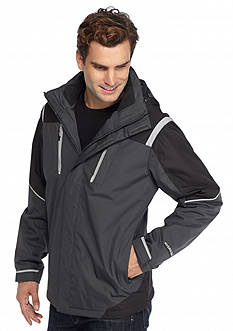 WEATHERPROOF: 32 Degrees Hydro-Tech Twill Tech Active Hooded Jacket