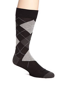 Tallia Orange Argyle Print Socks - Single Pair