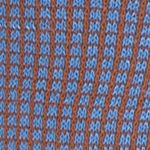 Mens Casual Socks: Brown Blue Tallia Orange Neat Grid Print Socks - Single Pair