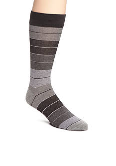 Tallia Orange Heather Striped Socks - Single Pair