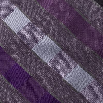 Men: Regular Sale: Purple Madison Pepper Plaid III Tie