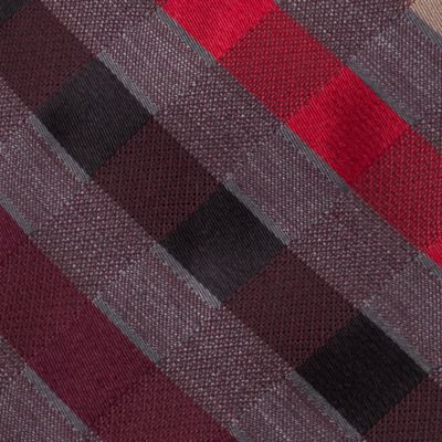 Men: Neckties Sale: Burgundy Madison Pepper Plaid III Tie