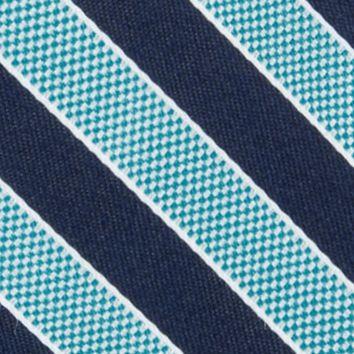 Men: Nautica Accessories: Turquoise Nautica Blue Sky Bengal Tie