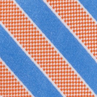 Nautica Mens: Orange Nautica Blue Sky Bengal Tie
