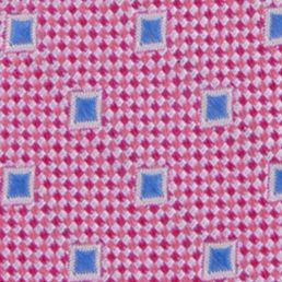 Young Mens Neckties: Bright Pink Nautica Pin Point Boxes Tie