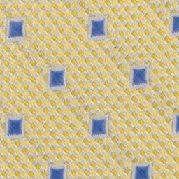 Young Mens Neckties: Yellow Nautica Pin Point Boxes Tie