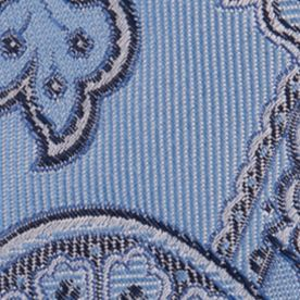 Nautica Mens: Light Blue Nautica Drifting Paisley Tie