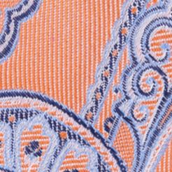 Nautica Mens: Orange Nautica Drifting Paisley Tie