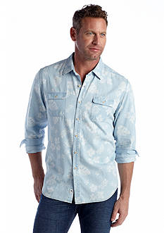 Tommy Bahama® Long Sleeve Chambray City Woven Shirt