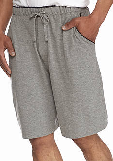 Saddlebred Jersey Knit Lounge Shorts With Contrast Color Piping