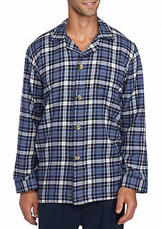 Saddlebred Flannel Plaid Lounge Shirt