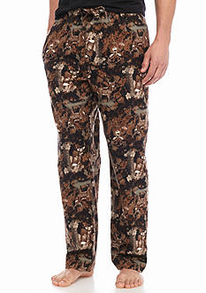 Saddlebred Forest Deer Printed Flannel Lounge Pants