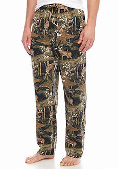Saddlebred Deer Printed Flannel Lounge Pants