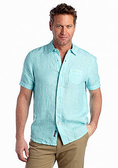 Tommy Bahama Big & Tall Short Sleeve New Party Breezer Woven Shirt