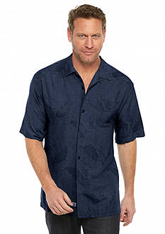 Tommy Bahama Big & Tall Short Sleeve Rio Fronds Woven Shirt