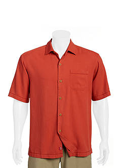 Tommy Bahama Big & Tall Solid Havana Herringbone Shirt