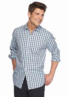 Tommy Bahama Big & Tall Cayes Check Long Sleeve Woven Shirt