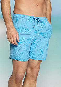 Tommy Bahama Big & Tall Naples Captain Jacquard Swim Trunks