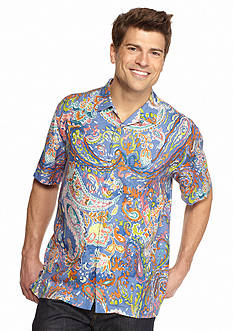 Tommy Bahama Short Sleeve Patio Paisley Woven Shirt