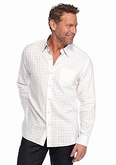 Tommy Bahama Long Sleeve Sydney Squares Linen Shirt