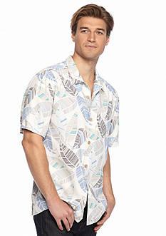Tommy Bahama Short Sleeve Oo La La Leaf Woven Shirt