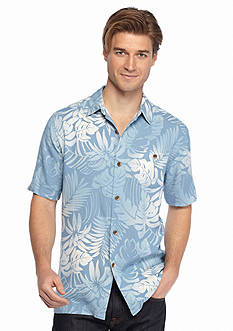 Tommy Bahama Short Sleeve Painterly Palm Woven Shirt