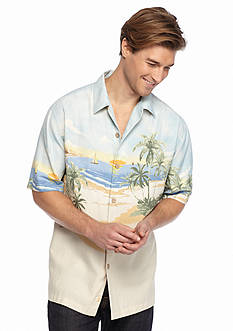 Tommy Bahama Short Sleeve Sunscape Isle Woven Shirt