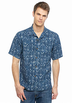 Tommy Bahama Short Sleeve Palm Of Our Lives Woven Shirt