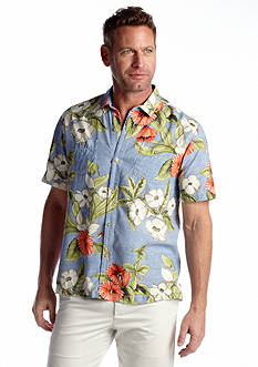 Tommy Bahama® Floral Persuasion Short Sleeve Woven Shirt