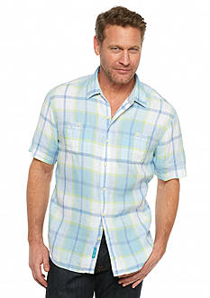 Tommy Bahama Short Sleeve Master Plaid Breezer Woven Shirt