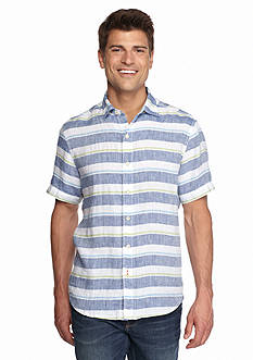 Tommy Bahama Short Sleeve Staysail Stripe Breezer Woven Shirt