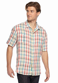 Tommy Bahama Short Sleeve Madras Madness Breezer Woven Shirt