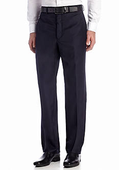 Calvin Klein Navy Wool Flat Front Pants