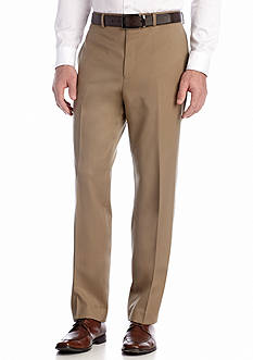 Calvin Klein Tan Flat Front Pants