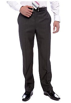 Calvin Klein Grey Herringbone Slim Fit Suit Separate Pants