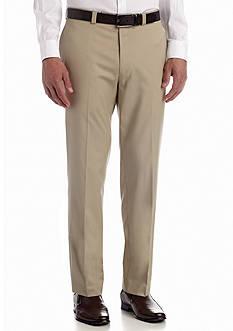 Calvin Klein Classic Fit Flat Front Pants