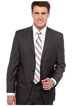 Calvin Klein Grey Herringbone Slim Fit Suit Separate Coat