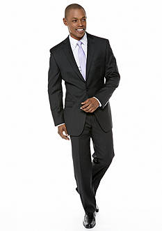 Calvin Klein Slim Fit Black Pinstripe Suit