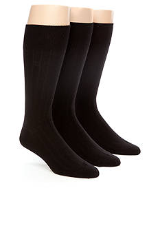Chaps 3-Pack Rib Crew Dress Socks