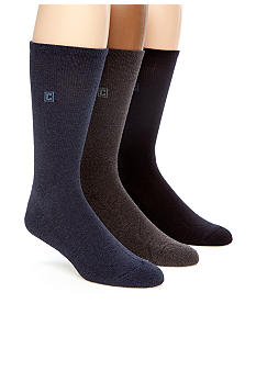 Chaps 3-Pack Cushion Sole Ribbed Socks