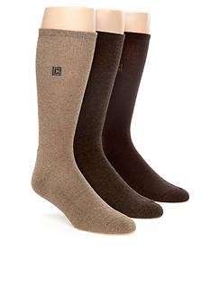 Chaps Cushion Sole Rib Crew Socks - 3 Pack