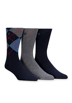 Chaps Argyle and Solid Crew Socks - 3 Pack