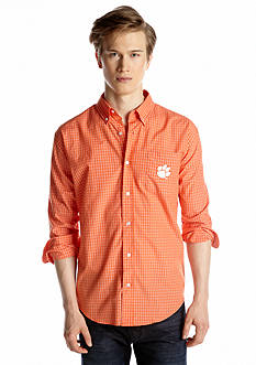 Campus Specialties Clemson Tigers Long Sleeve Check Woven Shirt