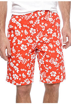 Chor Hawaiian Print Shorts