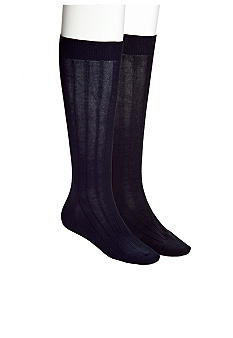 Cole Haan Over The Calf Rib Pima Cotton Socks -- Single Pair
