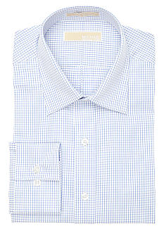 MICHAEL Michael Kors Blue Check Dress Shirt