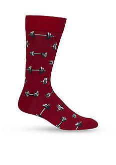 Hot Sox Barbells Crew Socks - Single Pair