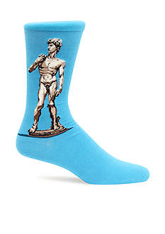Hot Sox Artist Series David, by Michelangelo Crew Socks - Single Pair