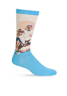 Hot Sox Artist Series Catching The Big One Crew Socks - Single Pair